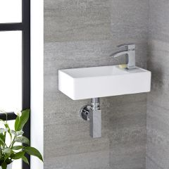 Milano Dalton - Ceramic Wall Hung Basin 400 x 220mm