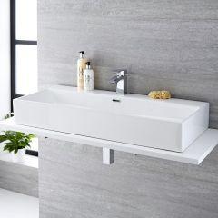 Milano Elswick - Ceramic Countertop Basin 1010 x 425mm
