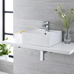Milano Dalton - Ceramic Countertop Basin 410 x 410mm