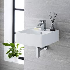 Milano Dalton - Ceramic Wall Hung Basin 410 x 410mm