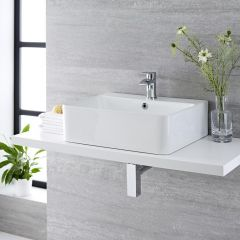 Milano Farington 520mm Countertop Basin with Mono Basin Mixer Tap