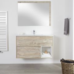 Milano Bexley -1000mm Open Vanity Unit with Basin - Light Oak