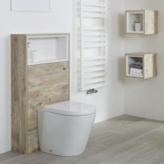 Milano Bexley - 1150mm Modern Open WC Unit - Light Oak