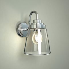 Milano Dochart Straight Glass Bathroom Wall Light