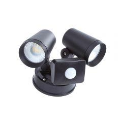 Biard Wels IP65 LED Twin Outdoor Wall Light - Black