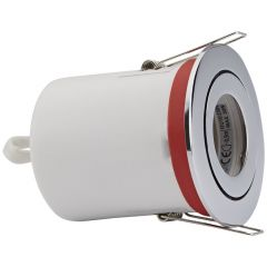 Biard IP20 Fire Rated Tilt Downlight with Removable Bezel - Round