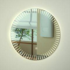 Milano Vistula LED Bathroom Mirror with Touch Sensor - ø600mm x 50mm
