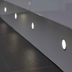 Biard 6 x Waterproof Round LED Plinth Light Kit 30mm