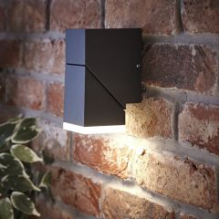 Biard Ziersdorf LED Adjustable Up or Down Light Square - Black