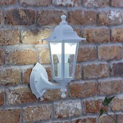 Biard Toulon Outdoor Wall Lantern - White