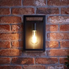 Biard Bonn IP54 Box Outdoor Wall Light - Black