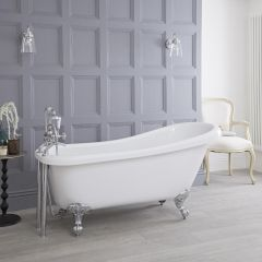 Milano - 1700 x 730mm Freestanding Slipper Bath with Choice of Feet