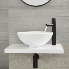Milano Nero - High Rise Basin Mixer Tap - Black
