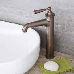 Milano Washington - Traditional High Rise Mono Basin Mixer Tap - Oil Rubbed Bronze