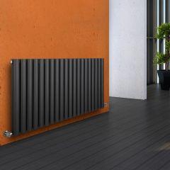Milano Aruba - Anthracite Horizontal Designer Radiator - 635mm x 1180mm (Double Panel)