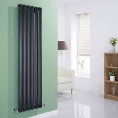 Milano Viti - Black Diamond Panel Vertical Designer Radiator - 1600mm x 420mm