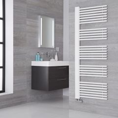 Lazzarini Way Grado - White Designer Heated Towel Rail - 1600mm x 600mm