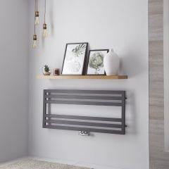 Lazzarini Way Urbino - Anthracite Designer Heated Towel Rail - 500mm x 1200mm