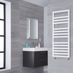 Lazzarini Way Urbino - White Designer Heated Towel Rail - 1200mm x 500mm