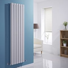 Milano Viti - White Diamond Panel Vertical Designer Radiator - 1600mm x 420mm (Double Panel)