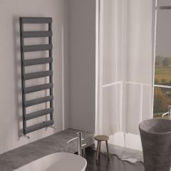Milano Passo - Aluminium Anthracite Designer Heated Towel Rail - 1590 x 500mm