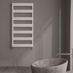 Milano Passo - Aluminium Designer Heated Towel Rail 1190 x 500mm White