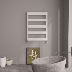 Milano Passo - Aluminium Designer Heated Towel Rail 790 x 500mm White