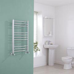 Milano Eco - Curved Chrome Heated Towel Rail - 800mm x 400mm