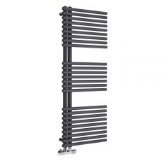 Lazzarini Way - Bari - Anthracite Designer Heated Towel Rail - 1120 x 500mm
