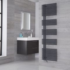 Lazzarini Way Bari - Anthracite Designer Heated Towel Rail - 1700mm x 500mm