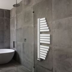 Lazzarini Way - Spinnaker - Mineral White Designer Heated Towel Rail - 1100mm x 483mm