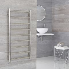 Milano Esk - Electric Stainless Steel Flat Heated Towel Rail - 500mm x 1000mm