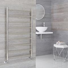 Milano Esk - Stainless Steel Flat Heated Towel Rail - 600mm x 1000mm