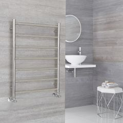 Milano Esk - Stainless Steel Flat Heated Towel Rail - 600mm x 800mm