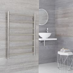 Milano Esk Electric - Electric Stainless Steel Flat Heated Towel Rail - 600mm x 800mm