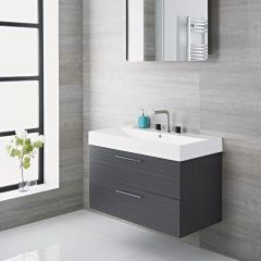 Milano Linley - 900mm Vanity Unit - Grey
