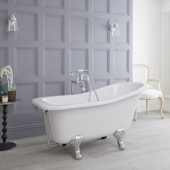 Premier - 1500 x 730mm Freestanding Slipper Bath