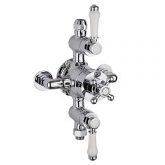 Milano Victoria Traditional Triple Exposed Thermostatic Shower Valve