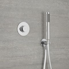 Milano Vis One Outlet Digital Thermostatic Shower with Round Hand shower