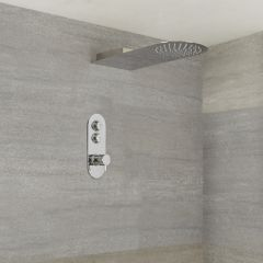 Milano Orta - 2 Outlet Push Button Shower Valve and Waterblade Shower Head