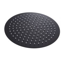Milano Nero - 300mm Round Shower Head - Black