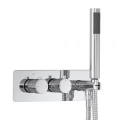 Milano Mirage Round Twin Diverter Thermostatic Shower Valve with Handset