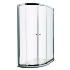 Milano Hutton Complete Offset Quadrant Shower Enclosure With Tray & Waste 1000 x 800mm LH