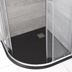 Milano Graphite Slate Effect Quadrant Shower Tray 900mm