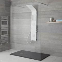 Milano Orton - Shower Tower with Integrated Storage - White