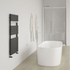 Lazzarini Way - Torino - Anthracite Designer Heated Towel Rail - 952 x 550mm