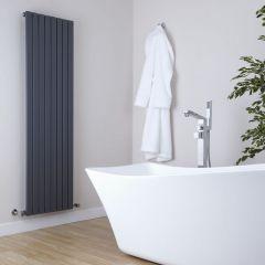 Milano Capri - Anthracite Vertical Flat Panel Designer Radiator - 1780mm x 472mm