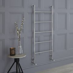 Milano Derwent - Minimalist Brass Heated Towel Radiator Rail 1110mm x 500mm