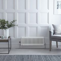 Milano Windsor - Traditional White Horizontal Column Radiator - 300mm x 788mm (Triple Column)