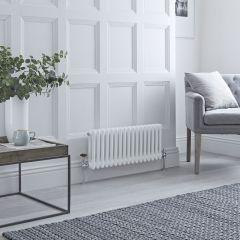 Milano Windsor - Traditional 17 x 2 Column Radiator Cast Iron Style White 300mm x 785mm